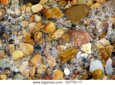 Stones in the Mediterranean beach