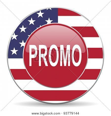 promo original american design modern icon for web and mobile app on white background