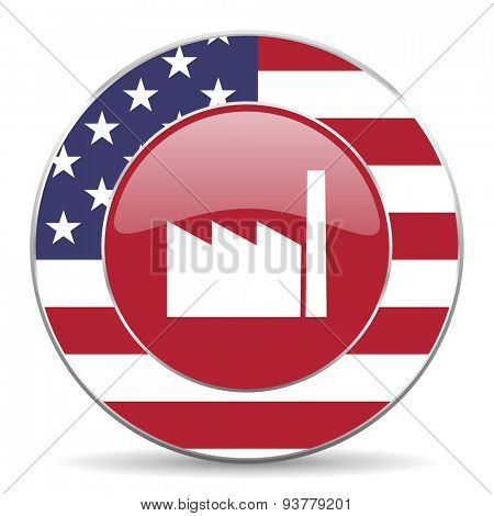 factory american icon original modern design for web and mobile app on white background
