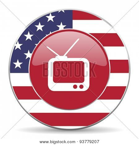 tv american icon original modern design for web and mobile app on white background