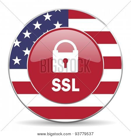 ssl american icon original modern design for web and mobile app on white background
