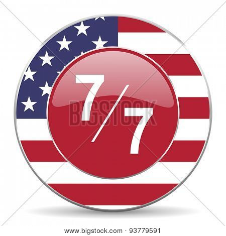 7 per 7 original american design modern icon for web and mobile app on white background