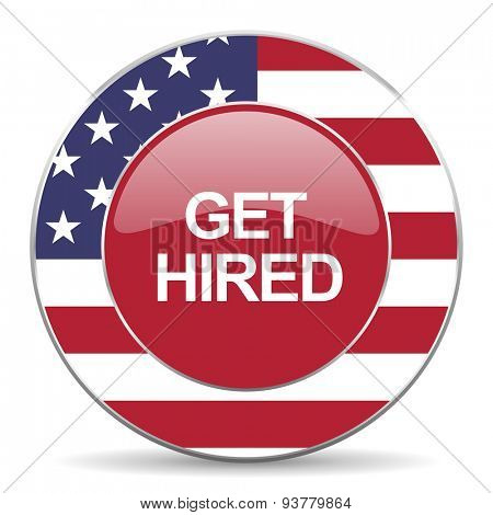 get hired american icon original modern design for web and mobile app on white background