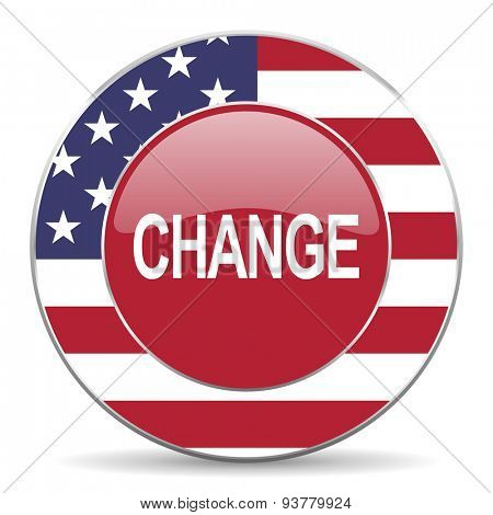 change american icon original modern design for web and mobile app on white background