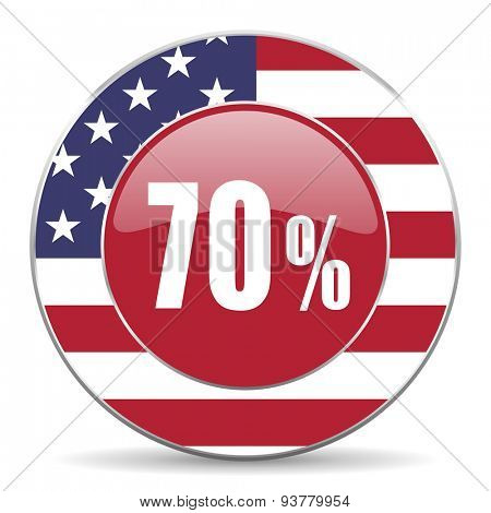 70 percent original american design modern icon for web and mobile app on white background