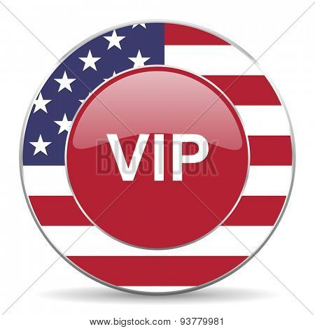 vip american icon original modern design for web and mobile app on white background