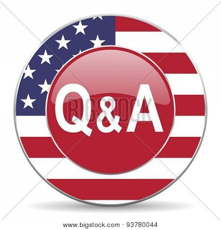 question answer american icon original modern design for web and mobile app on white background