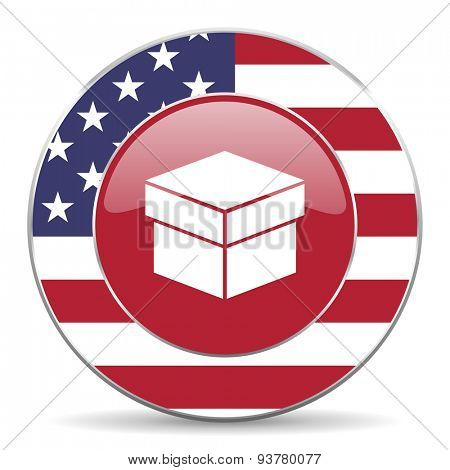 box american icon original modern design for web and mobile app on white background