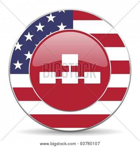 database american icon original modern design for web and mobile app on white background