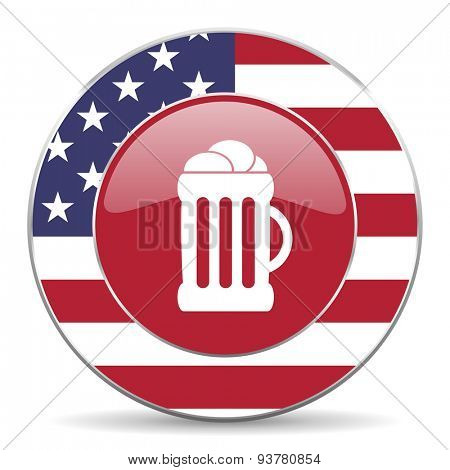 beer american icon original modern design for web and mobile app on white background