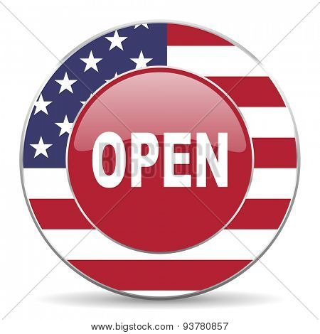 open american icon original modern design for web and mobile app on white background