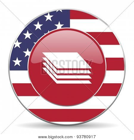 layers american icon original modern design for web and mobile app on white background