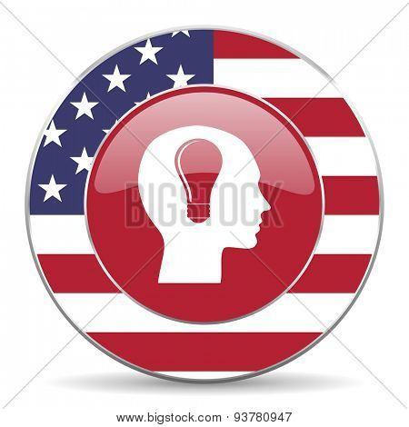 head original american design modern icon for web and mobile app on white background