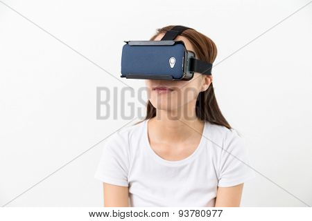 Woman wera with VR device