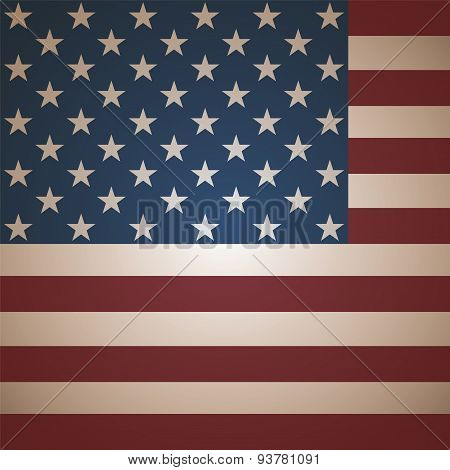 Beige American Flag Close Up