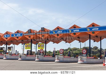 Toll Plaza On The Highway