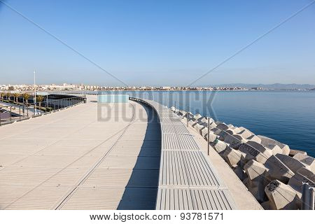 Promenade In Valencia, Spain