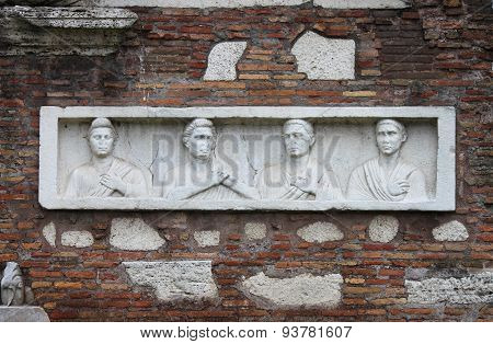 Basrelief in Appian Way