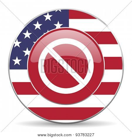 access denied american icon original modern design for web and mobile app on white background