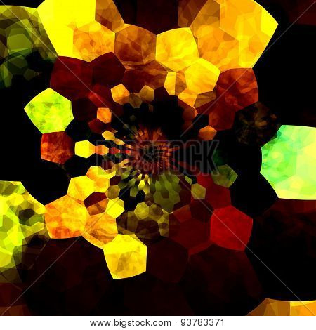 Artsy background design illustration. Art composition of colors and shapes with many sizes.