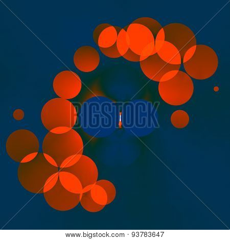 Background image with bubbles. Digitally predesigned illustration. Creative design element.