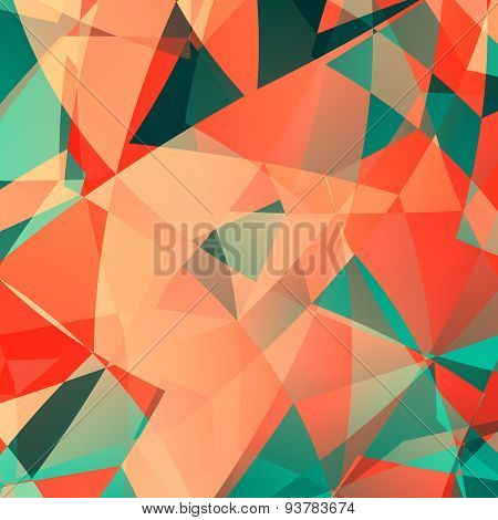 Pink polygonal technology backdrop. Design for web page, business or flyer. Art illustration.