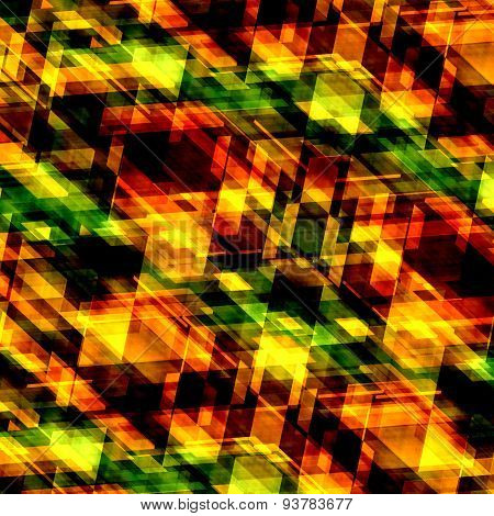 Decorative orange background. Abstract texture. Art pattern. Technology backdrop. Square shaped pic.