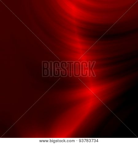 Red silky background. Illustration design. Abstract texture image. Color wave of smoke. 3d style.