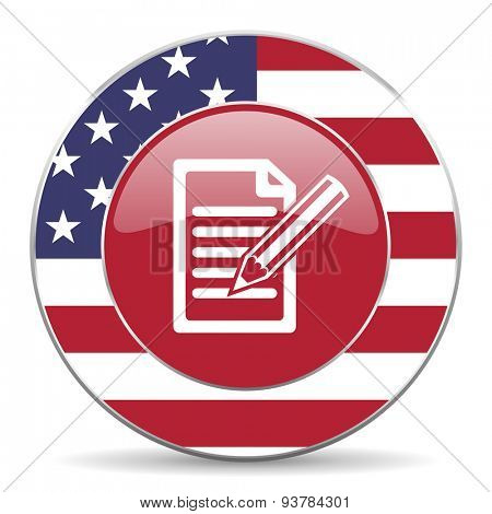 subscribe american icon original modern design for web and mobile app on white background