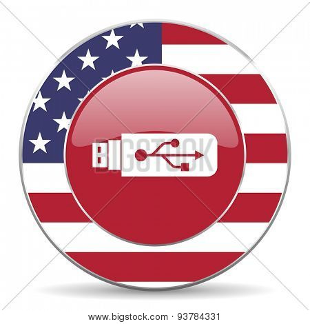 usb american icon original modern design for web and mobile app on white background