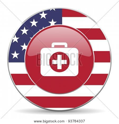 first aid american icon original modern design for web and mobile app on white background