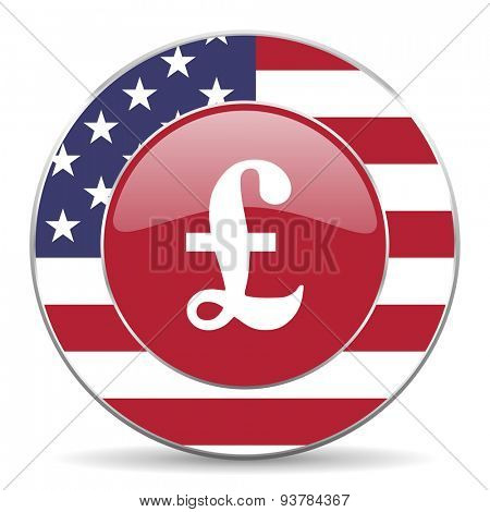 pound american icon original modern design for web and mobile app on white background