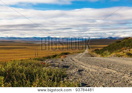 Road through Tundra
