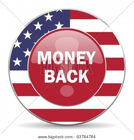 money back american icon original modern design for web and mobile app on white background