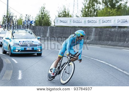 The Cyclist Jakob Fuglsang - Tour De France 2014