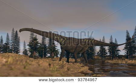 mamenchisaurus walking in spring