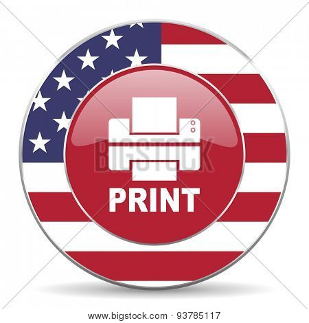 printer american icon original modern design for web and mobile app on white background