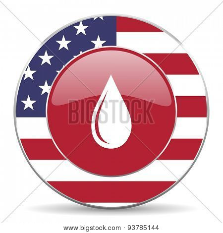 water drop american icon original modern design for web and mobile app on white background