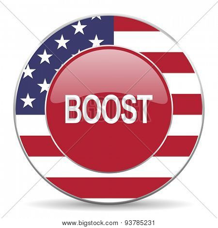 boost american icon original modern design for web and mobile app on white background
