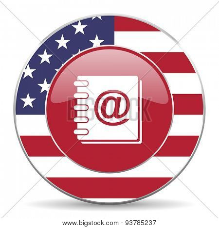address book american icon original modern design for web and mobile app on white background