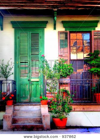 Picture Or Photo Of One Of New Orleans Homes With Shutters In The French Quarter
