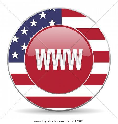 www american icon original modern design for web and mobile app on white background
