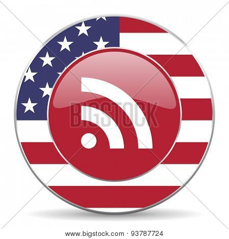 rss american icon original modern design for web and mobile app on white background
