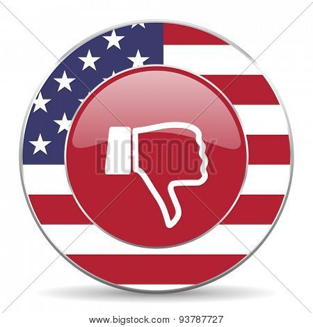 dislike american icon original modern design for web and mobile app on white background