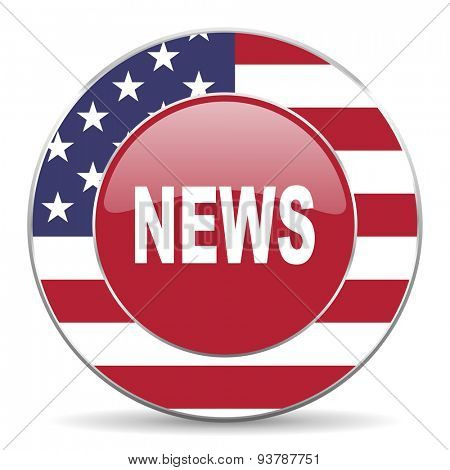 news american icon original modern design for web and mobile app on white background