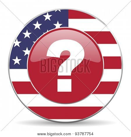 question mark american icon original modern design for web and mobile app on white background