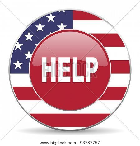 help american icon original modern design for web and mobile app on white background