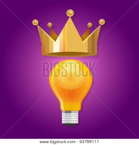 idea is king bulb shine lamp crown queen