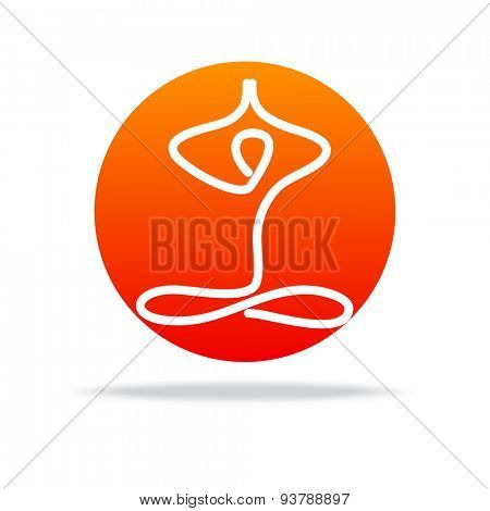 Yoga and spiritual development - template for a logo . The design concept of the sign.