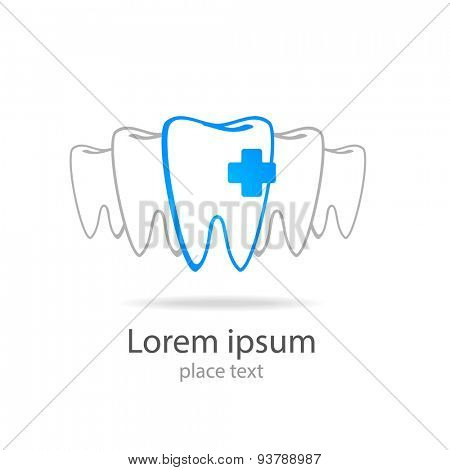 Stomatology sign. Dental Clinic Logotype concept. Dentist Logo tooth shape design vector template.